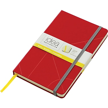 Tops® Idea Collective™ Large Hardbound Journal, Red Embossed Cover, 240 pages,  8-1/4in. x 5in.
