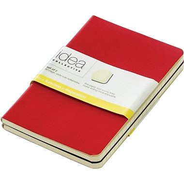 Tops® Idea Collective™ Mini Softcover Journal, 2-Pack, Red & Black Covers, 80 pages, 5-1/2in. x 3-1/2in.