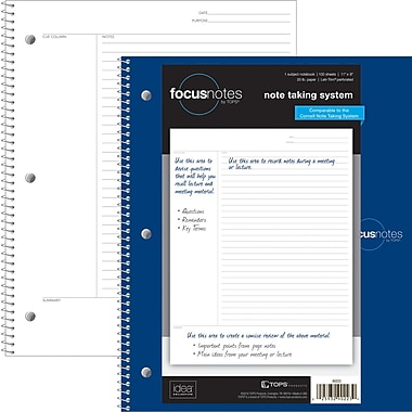 TOPS FocusNotes™ Notebook, Project Ruled, 11in. x 9in.