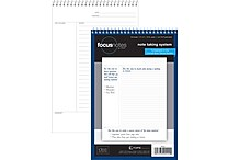 TOPS® FocusNotes Steno Pad, 6' x 9', Project Ruled, White, 80 Sheets (90222)