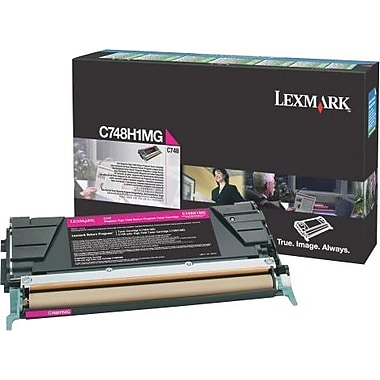 Lexmark C748 Magenta High Yield Return Program Toner Cartridge C748H1MG