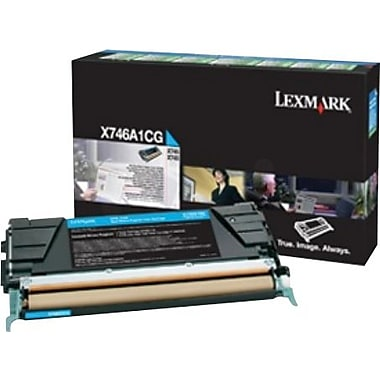 Lexmark Cyan Toner Cartridge (X746A1CG), Return Program