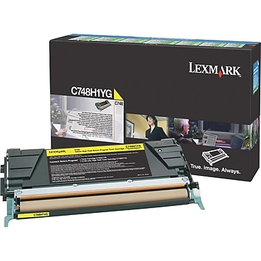 Lexmark Yellow Toner Cartridge (C748H1YG), High Yield, Return Program