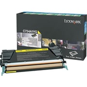 Lexmark Yellow Toner Cartridge (X746A1YG), Return Program