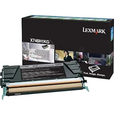 Lexmark Black Toner Cartridge (X746H1KG), High Yield, Return Program