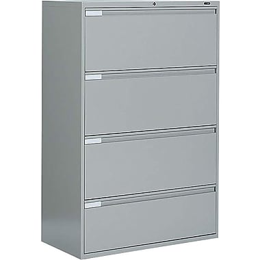 Global® 9100 Plus Series Lateral File Cabinet, 4-Drawer, Grey