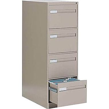 Global® 2800 Series Premium Vertical Letter File Cabinets, 4-Drawer, Sand
