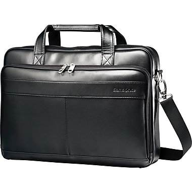 Samsonite Leather Slim Breifcase, Black