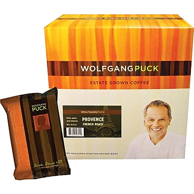 Wolfgang Puck Provence French Roast Ground Coffee, 2.5 oz., 18 Packets/Box