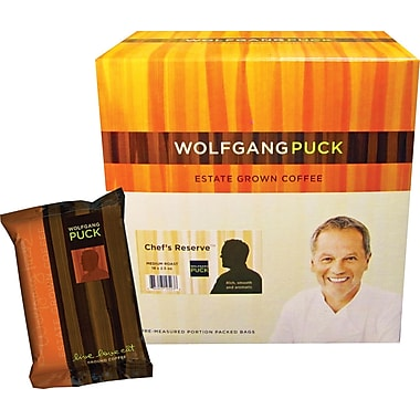 Wolfgang Puck Chef's Reserve Ground Coffee, 2.5 oz., 18 Packets/Box