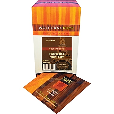 Wolfgang Puck Provence French Roast Coffee, 18 Pods/Box