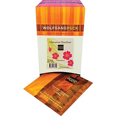 Wolfgang Puck Hawaiian Hazelnut Coffee, 18 Pods/Box