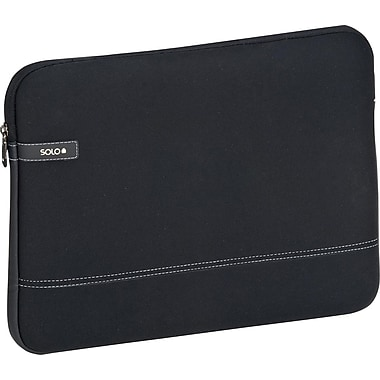Solo Urban CheckFast Laptop Sleeve, Black (VTR161-4)
