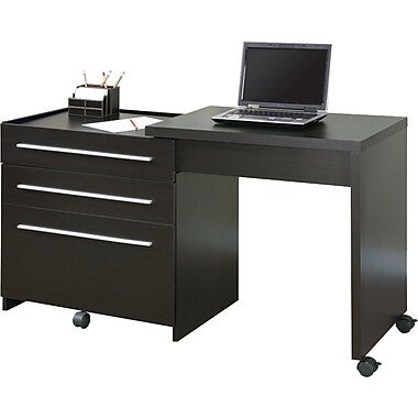 Monarch specialties bureau pour ordinateur avec plateau coulissant et tiroi - Bureau avec plateau coulissant ...
