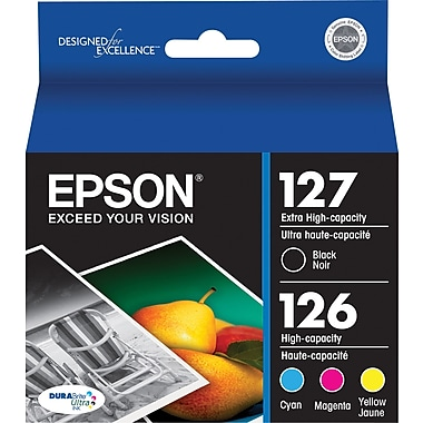 Epson T127/T126 Black Extra High Capacity / Color High Capacity, (T127120-BCS) Combo 4/Pack