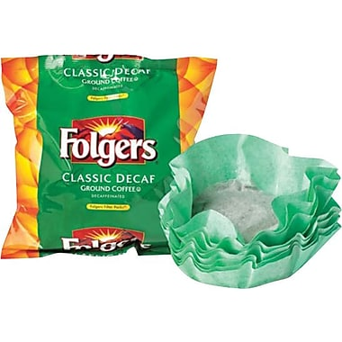 Folgers® Classic Roast Ground Coffee, Decaf, .9 oz., 40/Filter Packets