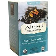 Numi® Aged Earl Grey Organic Black Tea, Higher Caffeine, 18 Tea Bags/Box