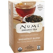 Numi® Breakfast Blend Organic Black Tea, Higher Caffeine, 18 Tea Bags/Box