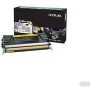 Lexmark Yellow Toner Cartridge (X748H1YG), High Yield, Return Program