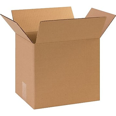 11 1/4in.(L) x 8 3/4in.(W) x 10in.(H) - Staples Corrugated Shipping Box, 25/Bundle