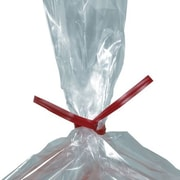 "9"" x 5/32"" - Staples Red Plastic Twist Tie, 2000/Case"