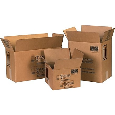 11 3/8in.(L) x 8 3/16in.(W) x 12 3/8in.(H) - Staples 2 - 1 Gallon F-Style Paint Can Shipping Box, 20/Bundle