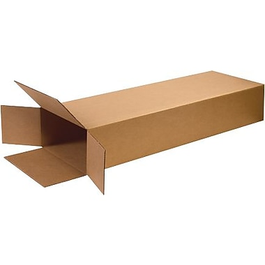 18in.(L) x 6in.(W) x 45in.(H) - Staples Side Loading Corrugated Shipping Box, 5/Bundle
