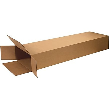 14in.(L) x 4in.(W) x 68in.(H) - Staples Side Loading Corrugated Shipping Box, 10/Bundle