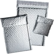 "Staples® Cool Shield Bubble Mailers, Silver, 6-3/8"" x 10-3/8"", 100/Case"