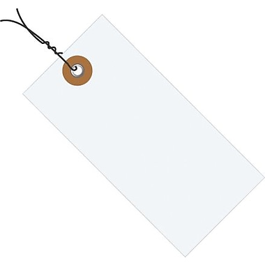 4 3/4in. x 2 3/8in. Tyvek® Shipping Tag - Pre-Wired, 1000/Case