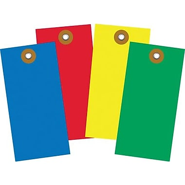 4 3/4in. x 2 3/8in. Yellow Tyvek® Shipping Tag, 100/Case