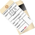 Staples - 6 1/4in. x 3 1/8in. - (4500-4999) Inventory Tags 2 Part Carbon Style #8, 500/Case