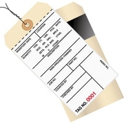 "Staples - 6 1/4"" x 3 1/8"" - (4500-4999) Inventory Tags 2 Part Carbon Style #8 - Pre-Wired, 500/Case"