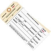 "Staples - 6 1/4"" x 3 1/8"" - (1000-1499) Inventory Tag 2 Part Carbonless Stub Style #8, 500/Case"