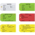 Staples - 4 3/4in. x 2 3/8in. - in.Accepted (Green)in. Inspection Tag