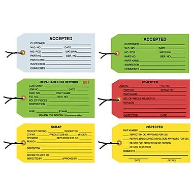 Staples - 4 3/4in. x 2 3/8in. - in.Accepted (Green)in. Inspection Tag - Pre-Strung