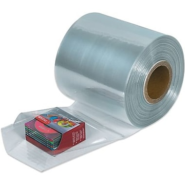 4in. x 100 Gauge x 1500' Staples Shrink Tubing, 1 Roll