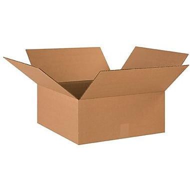 18 1/2in.(L) x 18 1/2in.(W) x 9in.(H) - Staples Corrugated Shipping Box, 20/Bundle