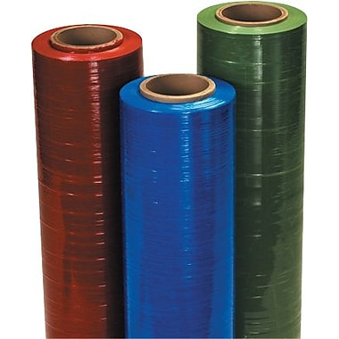 Staples 18in. x 80 Gauge x 1500' Red Cast Hand Stretch Film, 4/Case