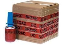 5' x 80 Gauge x 500' 'DO NOT BREAK LOAD' Goodwrappers® Identi-Wrap, 6/Pack