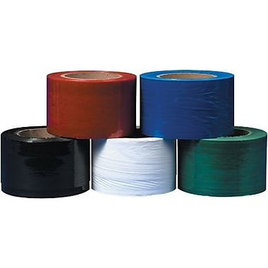 Staples 3in. x 80 Gauge x 1000' Black Bundling Stretch Film, 18/Case