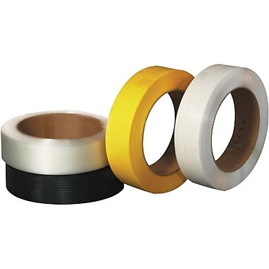 1/2in. x 9000' - 16in. x 6in. Core - Staples Hand Grade Polypropylene Strapping - Embossed, 350 lbs., 1 Coil