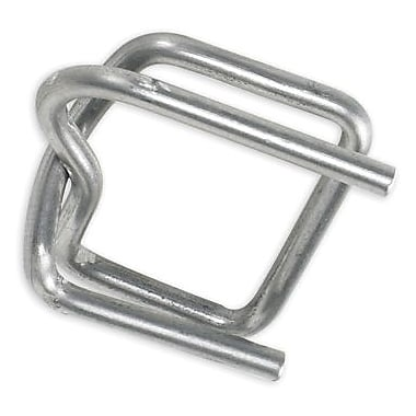 1/2in. - Staples Wire Poly Strapping Buckles, 1000/Case