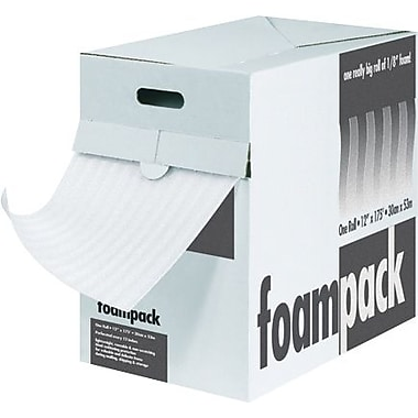 1/4in. x 12in. x 85' - Staples Air Foam Dispenser Packs, 1 Each