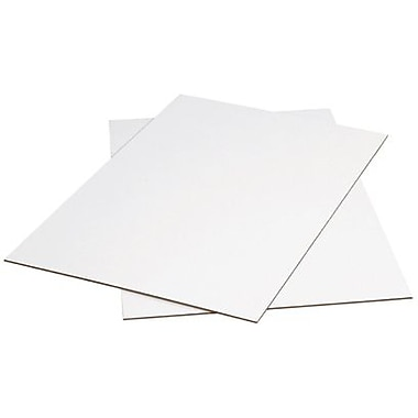 40in. x 48in. - Staples White Corrugated Sheet, 5/Bundle