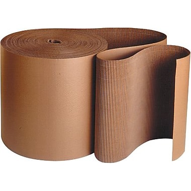 Staples Singleface Corrugated Roll, 12in. x 250', 1 Roll