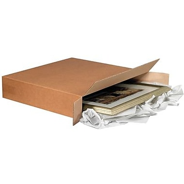 26in.(L) x 6in.(W) x 20in.(H) - Staples Side Loading Corrugated Shipping Box, 10/Bundle