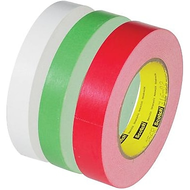 3M 256 Flatback Tapes, White, 60 yds