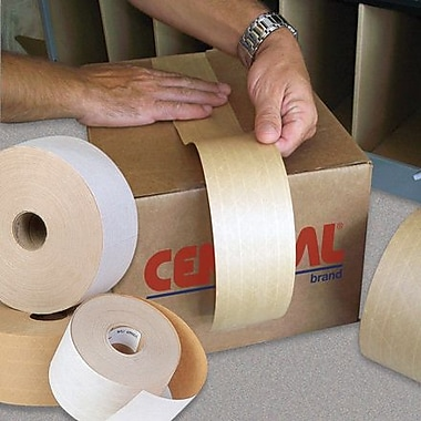 Central Glass-Reinforced Kraft Sealing Tape, Economy, 2 7/8in. x 450'