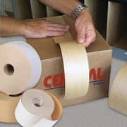 Central Glass-Reinforced Kraft Sealing Tape, Industrial, 3 x 450'
